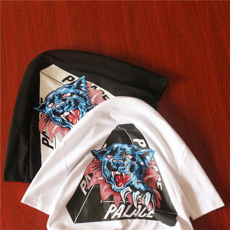 Palazzo maglietta del cotone della camicia uomo manica corta streetwear Estate in cotone T-shirt donna Tee tshirt leopardo testa 2020 CY200514