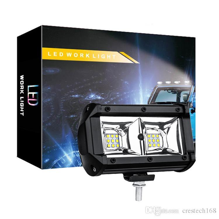 Car Light Trabalho 54W 5400LM 6500K IP67 Waterproof Dustproof à prova de choque Praça Auto Truck Mini Spotlight Branco Fog Lamp