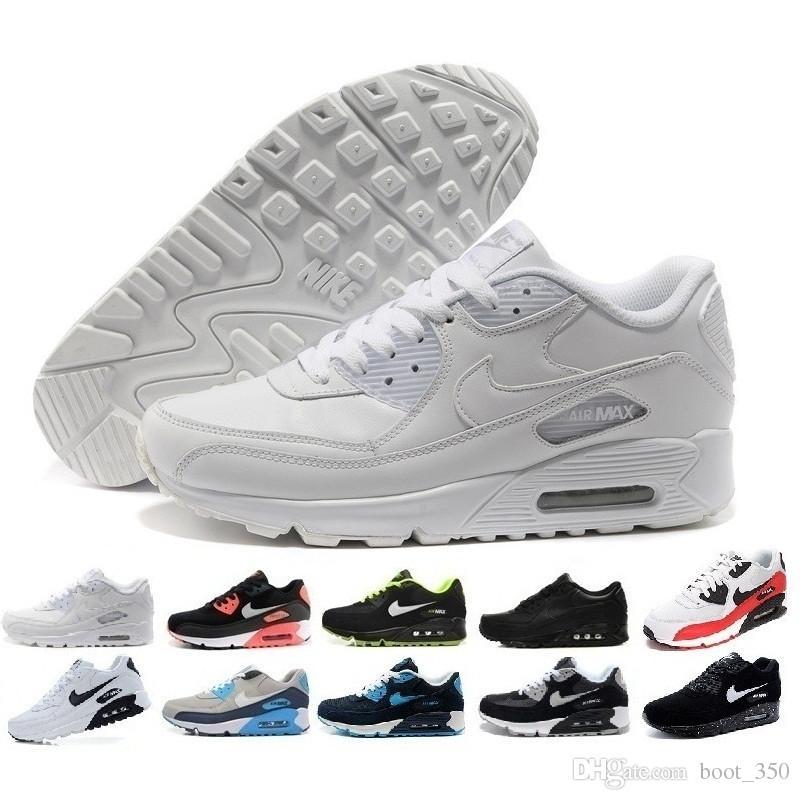 nike air max 90 airmax Sneakers uomo Scarpe Classic 90 Scarpe uomo e donna Sports Trainer Air Cushion Surface Scarpe sportive traspiranti 36-45 D22D