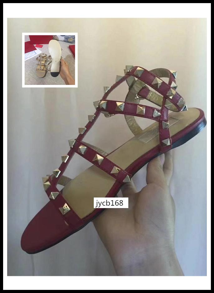 Zapatos de las sandalias originales de la Mujer de diseño de alta calidad caja de remaches vestido adornado shoessize 40