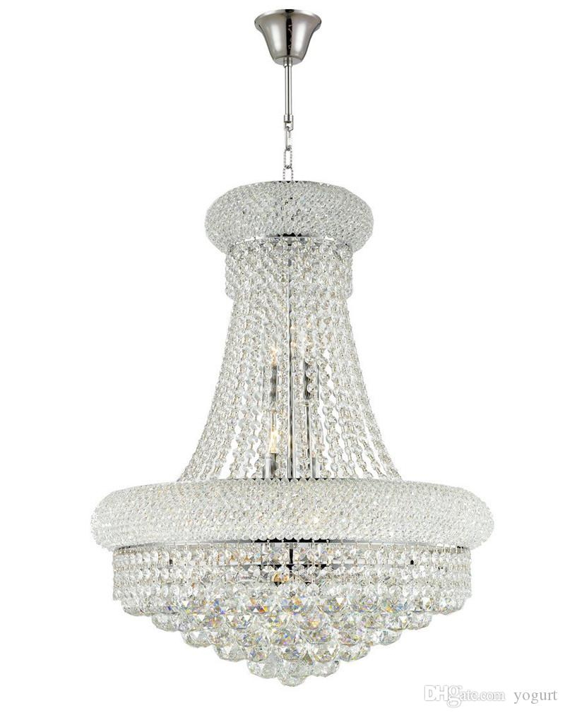 French Empire Gold Crystal Chandelier Chrome Chandelier Lighting Modern Hanging Lights Very Beautiful Gold Chandelier Flush Mount Chandelier From