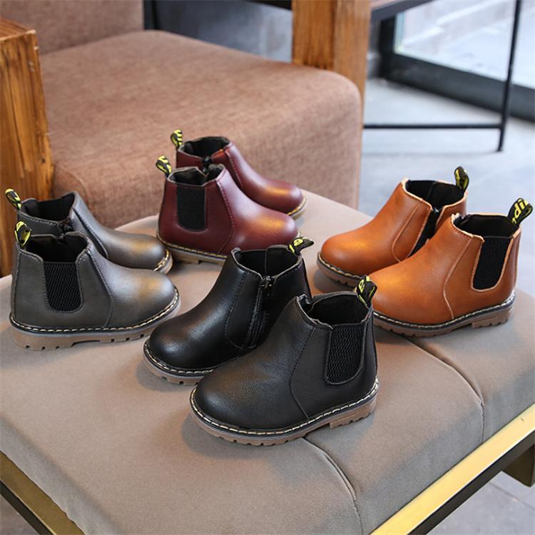 가을 겨울 어린이 마틴 부츠 4 색 남자 스니커즈 여자 발목 부츠 지퍼 부츠 패션 잉글랜드 스타일 아이 MJY830 신발