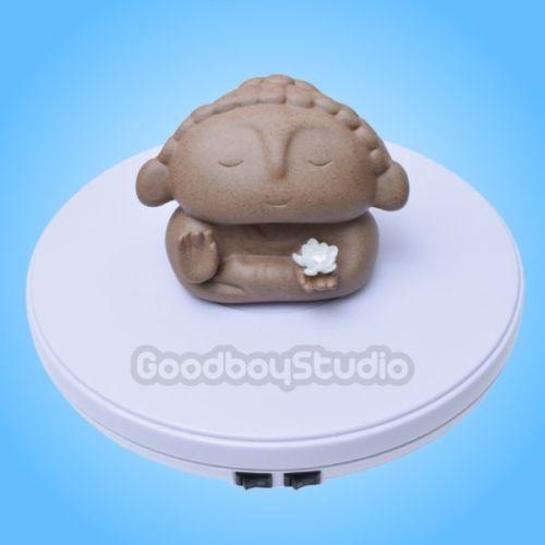 25cm 3D LED 사진 360도 전기 회전 턴테이블 스탠드 fr 사진 쥬얼리 모델 쇼 비디오 최대로드 10kg
