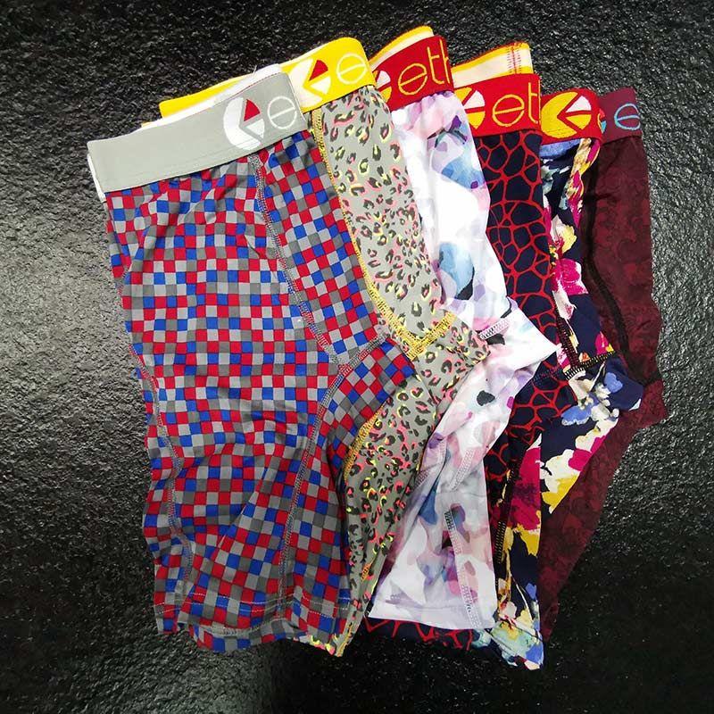 Color aleatorio para hombre boxeadores broncillos para diseñadores para hombres ropa interior de algodón transpirable boxeador de algodón beachpants hombres bragas de secado rápido S -XL