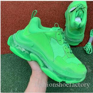 moda tasarımcısı Erkek Kadın Günlük Ayakkabılar Sneakers Yastık Üçlü S 3.0 Kombinasyon Azot Taban Kristal Alt baba Günlük Ayakkabılar