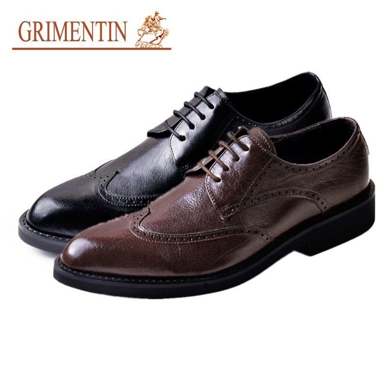 Grimentin Hot Sale Oxford Shoes Italian Fashion Designer Dress Mens Leather Shoes High Quality Formal Business Wedding Black Men Shoes Ast Mens Boots Shoe From Grimentin03 185 38 Dhgate Com