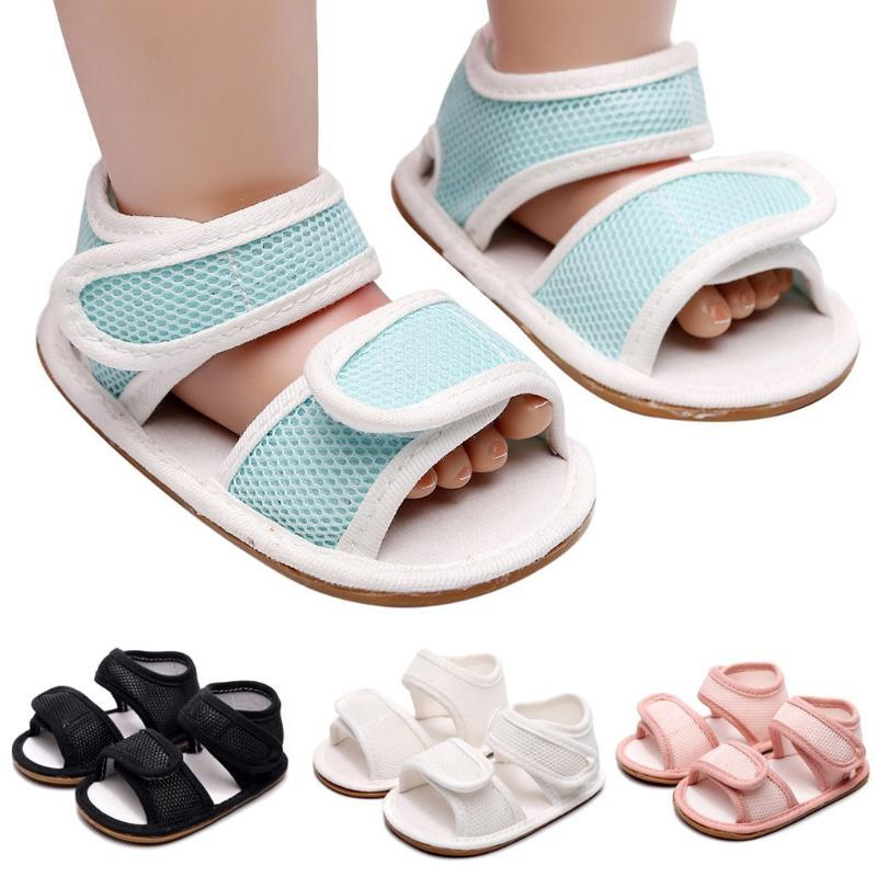 Comfort Cloth Baby Sandals 2020 Newborn Summer Shoes Infant Toddler Sandals For Kids Soft Soled Non-Slip Bowknot Newborn