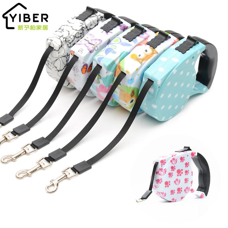 Retractable Dog Leash Automatic Flexible Dog Lead Extending Traction Rope Belt Leash for Small Medium Dogs Pet Products 5m