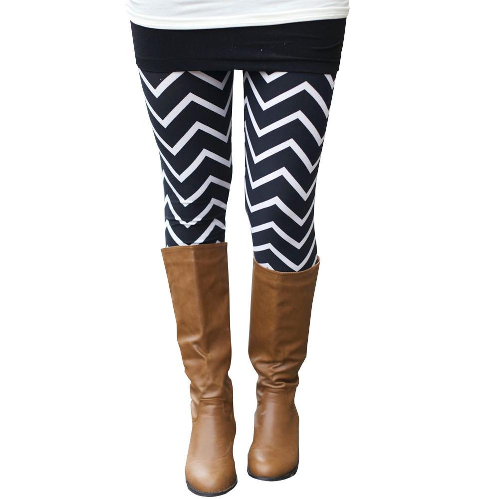 Leggings Women Skinny Print Stripe Running Slim Fitness Leggings Workout Sports Stretchy Pants Sweatpants Trousers Clothes