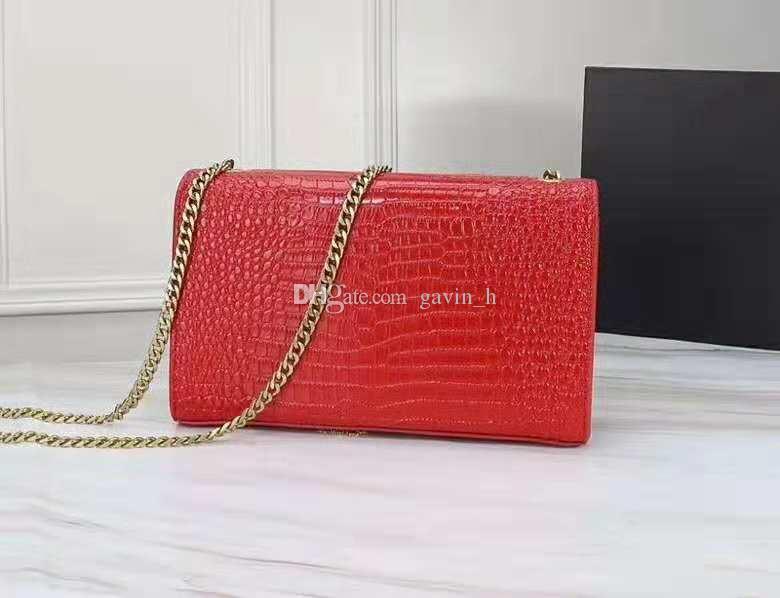Cadena Bolsos, bolsos famoso oro de alta calidad del nuevo diseñador de lujo bolsas de hombro de cuero del hombro de Crossbody del diseñador del monedero de