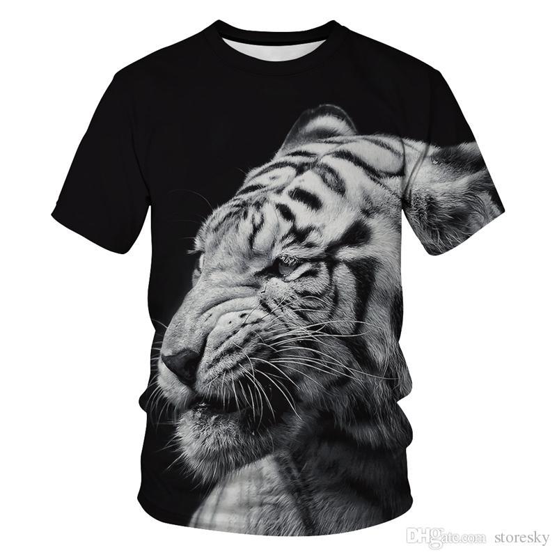 Funny Print 3D White Tiger T Shirt Tshirts Animal Men Women Summer Plus Size Tee Shirts Camiseta Homme Shirt Dropship
