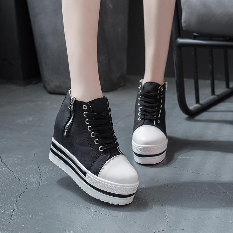 Zip de COOTELILI Printemps Automne Femmes Escarpins Chaussures Femme Casual Talons New Sneakers Mode