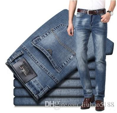 2020 Hot Sale Brand Mens Designer Patches Ripped Slim Fit jeans embroidery men's straight Business Famous classic jeans Casual Trousers H610