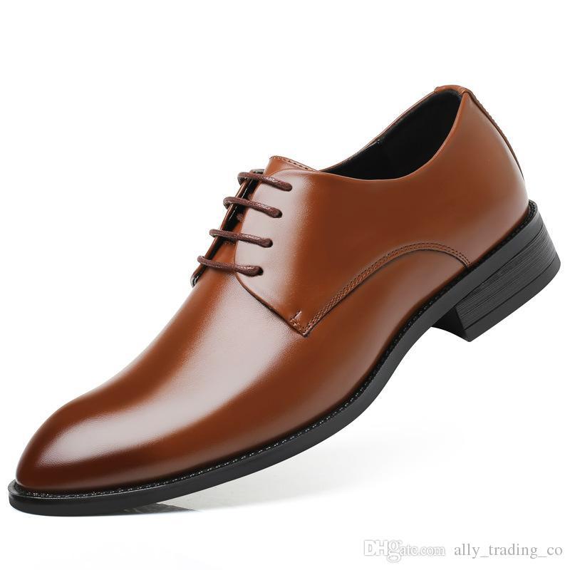 Compre Zapatos De Vestir Inferiores Gruesos De Los Hombres Tallas Grandes De Lujo Estilo Italiano Moda Hombres Zapatos Formales Hombres De Marca Llevar Zapatos De Cuero De Negocios A 46 92 Del
