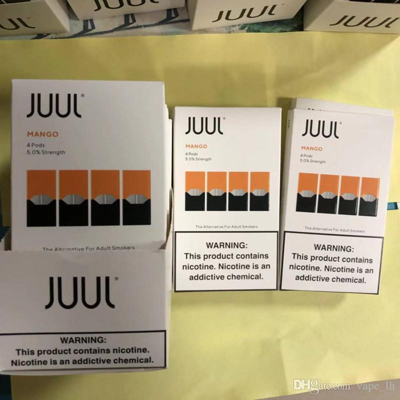 2018 JUUL Pods New Package Clone 8 Flavors Mango Creme For JUUL Vaporizer  Vape Pen Kit 4 Pods In One Pack Refillable Cartridge Ecig Coil Maker Rda