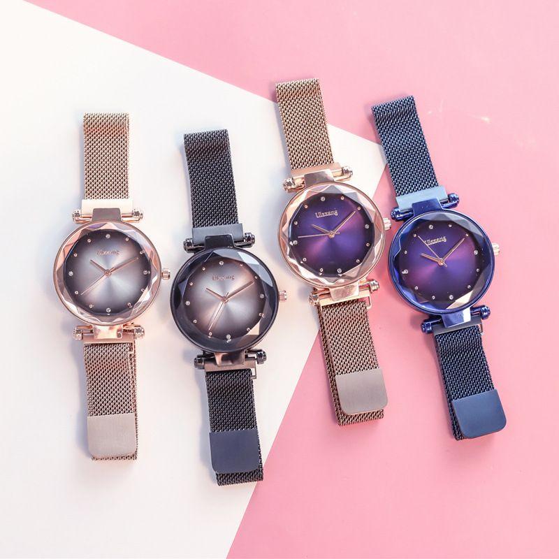 Requintado Ímã Força Magnética Único Criativo Banda Mulheres de Luxo de Quartzo Relógios Senhoras Vestido Relógios de Pulso Relógio NO BoxBracelet