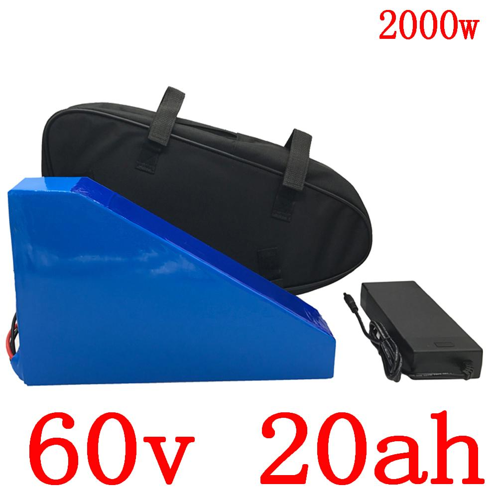 o imposto da alfândega livre 60V Lithium bateria 20AH bicicleta elétrica scooter de 1000W 1500W 2000W com carregador