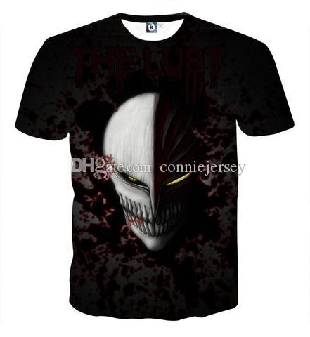 BLEACH T Gömlek 3D dijital erkekler 3d Baskı tshirt Erkek Casual Tee tişörtleri Erkekler Kısa Kollu Tam Boyutu S-5XL Için Tops