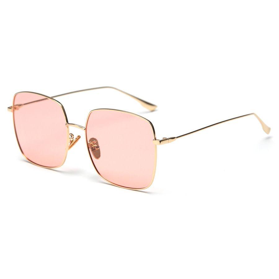 Lunettes de soleil colorées pour les femmes lunettes de soleil UV400 de monture de cadre en métal polarisées
