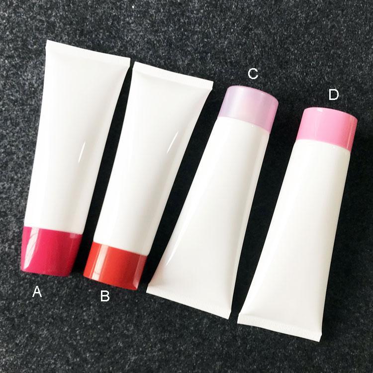 300pcs / lot 100g 100ml Beyaz Boş Plastik sıkın Şişe Kozmetik Yüz Temizleyici El Kremi Yumuşak Tüp