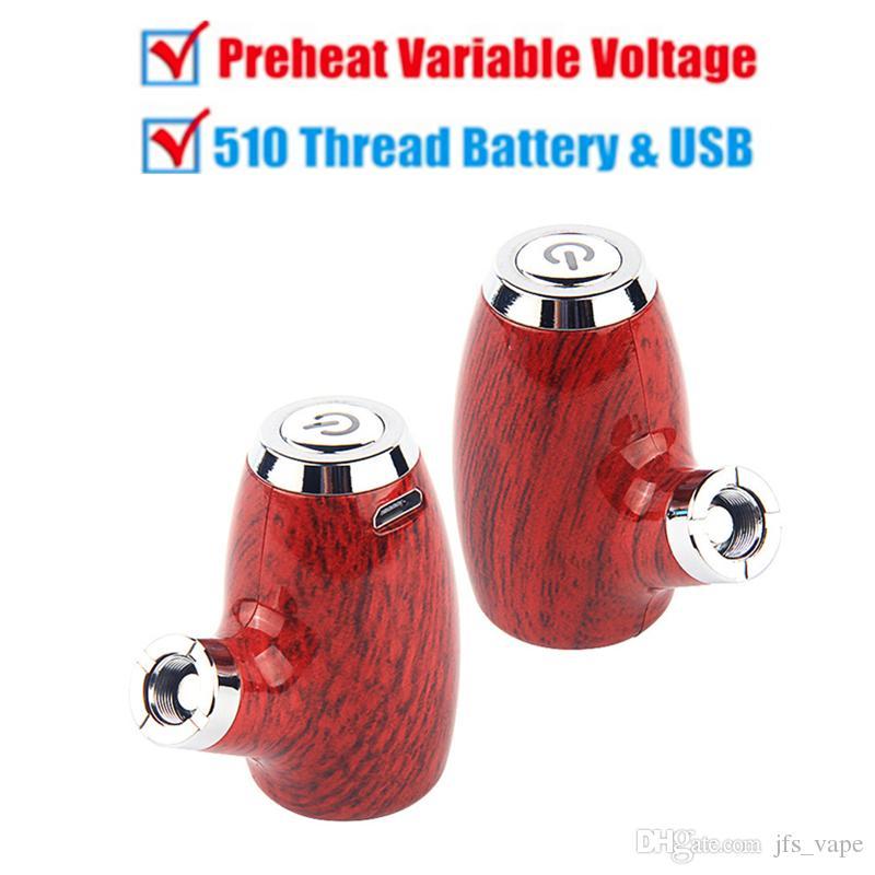 E Pipe Preheat 510 Thread Battery Variable Voltage Vape Pen Battery Micro USB Vaporizer Battery Charger Kit