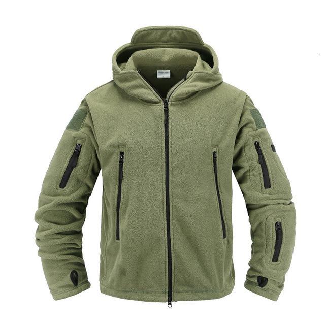 Táctica chaqueta de lana uniformes militares Soft Shell con capucha de la chaqueta casual de los hombres del ejército ropa térmica DT191023