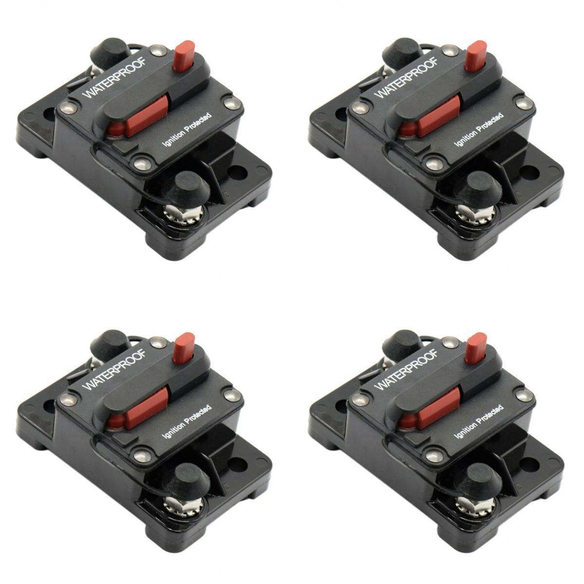 4pc amp manual restablecer circuito disyuntor fusible DC RV Coche barco de audio fusible