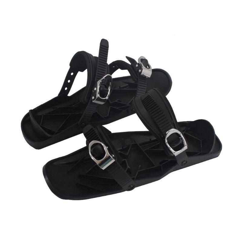 Hommes Femmes Mini Ski Patins Bottes Sports de plein air Snowboard Chaussures sangles réglables en nylon en acier inoxydable