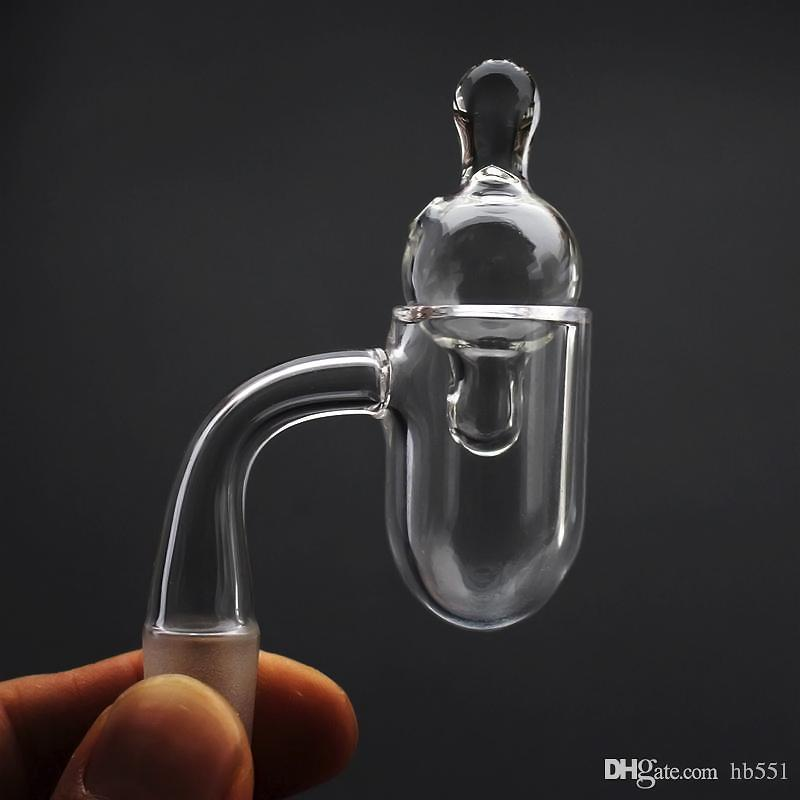Fond rond bord biseautéd od 25mm de quartz banger25mm od 3mm épaisseur de quartz banger + therp perle insert bouchon de glucides en verre