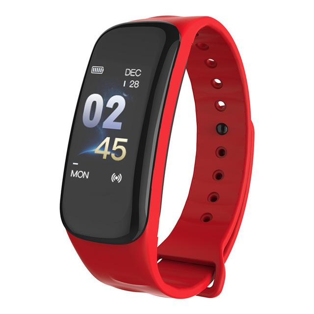 C1Plus samsung akıllı saat renkli ekran tansiyon ölçüsü Spor elma izle Spor Tracker Akıllı Bant Spor IOS reloj inteligente