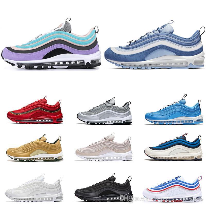 Nike Air Max 97 Baratas Para Hombres, Mujeres, RED LEOPARD, Triple Negro,  Blanco, Lengüeta De Tiro, Persa Violeta Rosa Para Hombre Entrenador ...