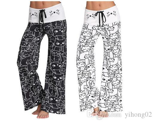 2019 Summer Trend ladies Casual Pants Classic Digital Printing Fashion Cartoon Design ladies Pants Big Bell Pants