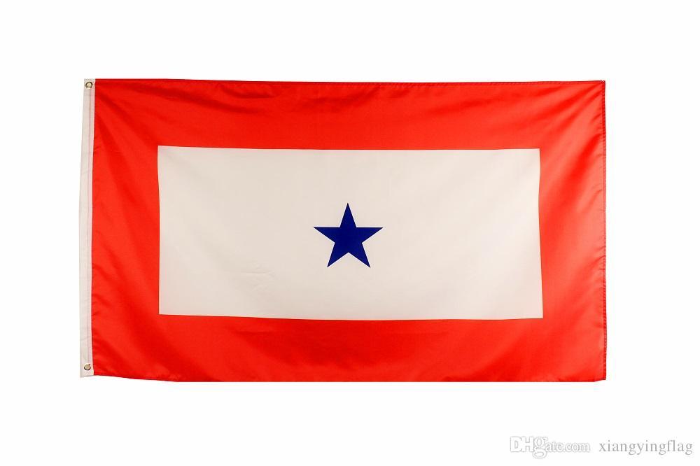 Freies verschiffen direkte fabrik hängen 90x150 cm 3x5 ft Familienmitglied Military Service Banner 1 Blaue Sterne Flagge