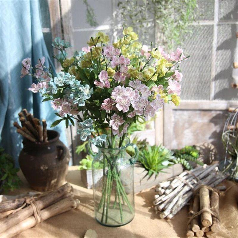 """Sahte Kısa Kök Gornthan 24.8 """"Uzunluk Simülasyon Düğün Ev Vitrin Dekoratif Yapay Çiçekler için Vogelsang"""
