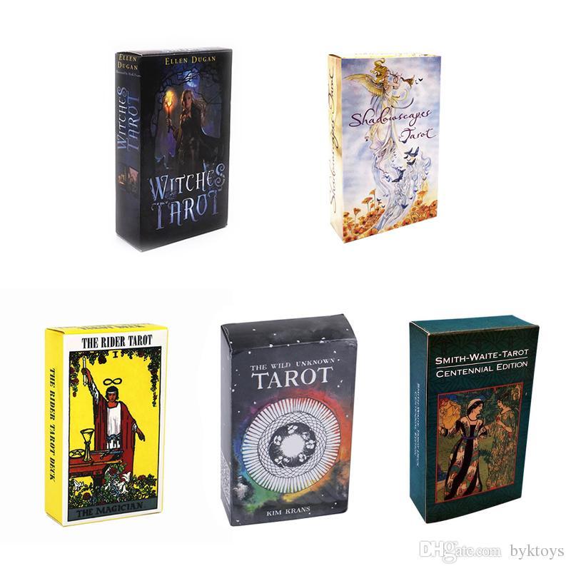 النسخة الانجليزية Tarots الساحرة رايدر سميث ويت Shadowscapes البرية غير معروف التارو سطح السفينة بطاقات لعبة المجلس مع صندوق ملون