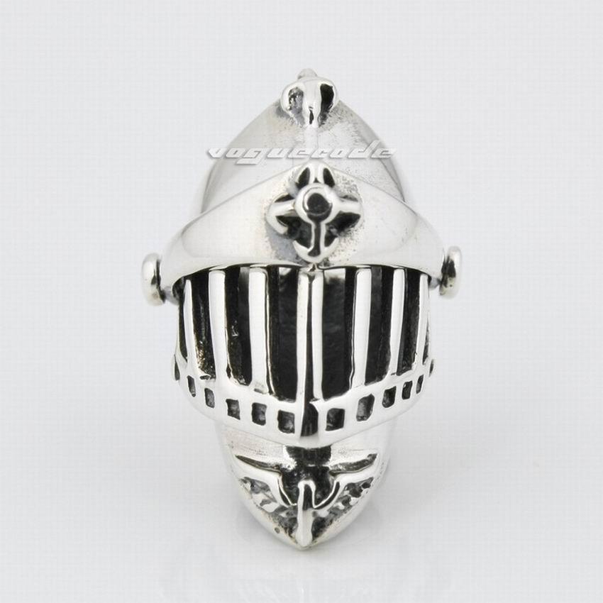 Knight Helmet 925 Sterling Silver Can be opened Medieval Crusader Mens Biker Rock Punk Pendant 8P010 just pendant