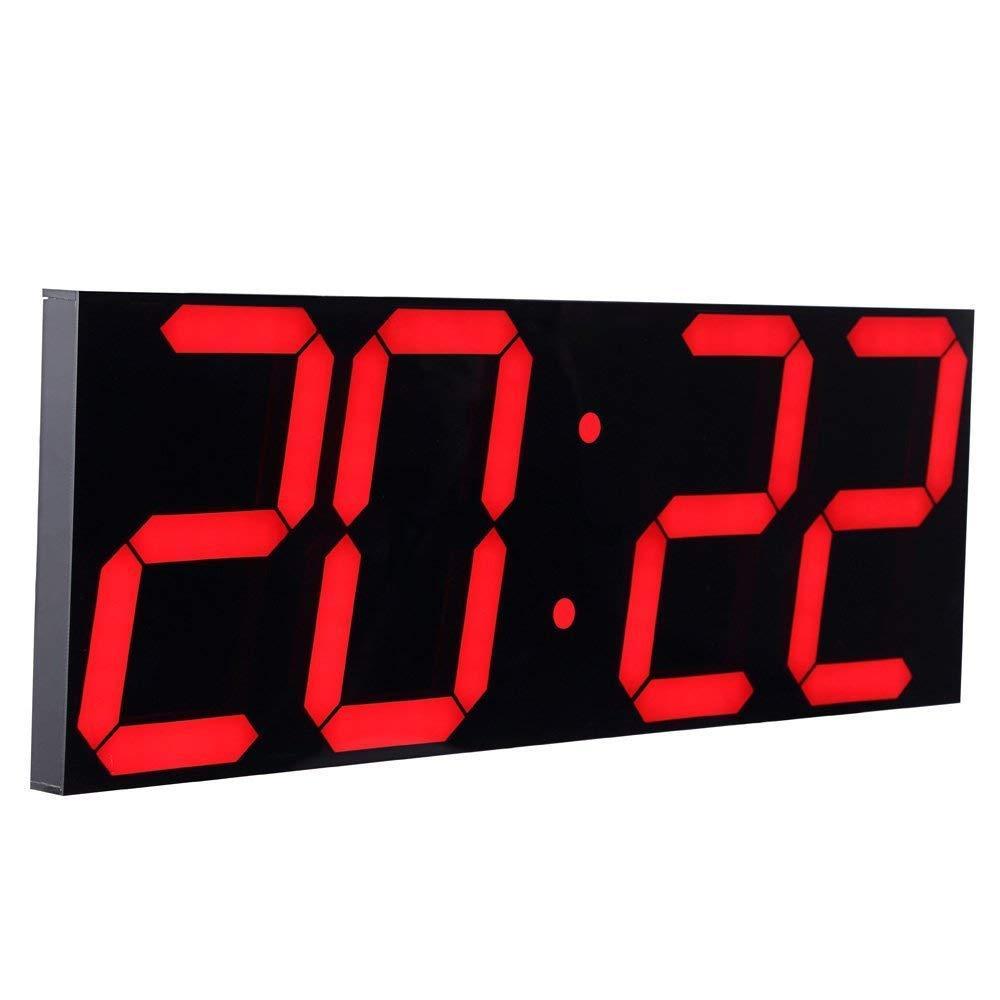 원격 제어 레드 3D 벽 시계 대형 디지털 데스크 알람 시계와 자동 주차 구게 왕국 카운트 다운 타이머 디지털 LED 벽 시계