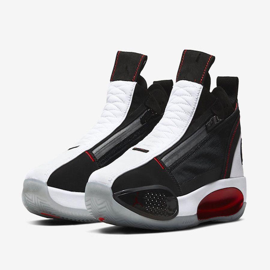 kutu Mağaza Boyutu 4-12 ile AJ 34 SE ALL STAR Siyah Kırmızı Beyaz Çocuk Basket Ayakkabısı En Jumpman XXXIV 34s Erkekler Trainer Ayakkabı