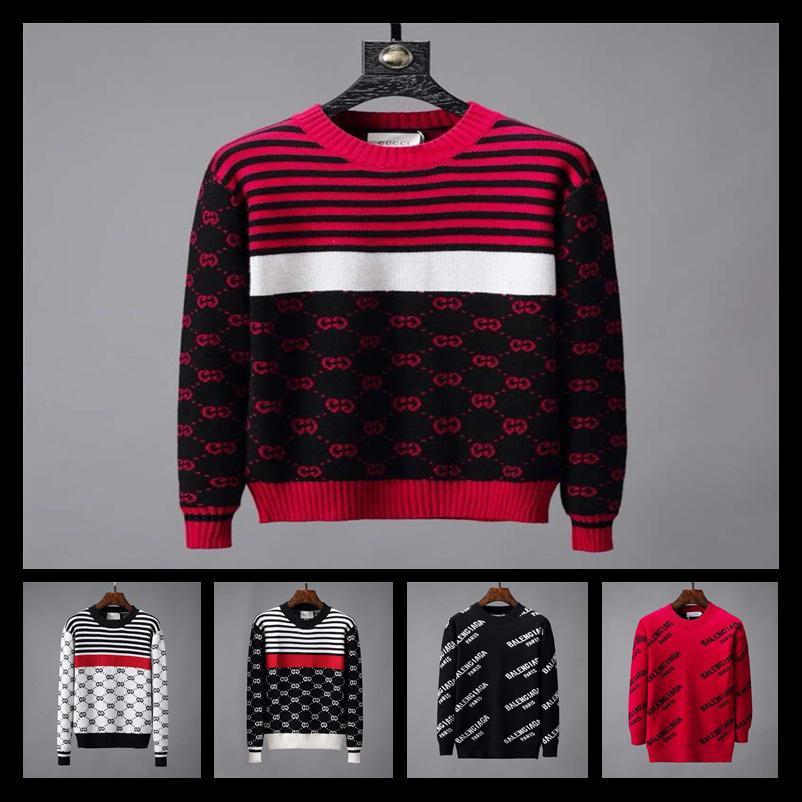 Europa Francia París Moda Suéter de lujo Suéter hombre s diseñador suéteres de manga larga Diseñador Sudadera Carta prendas de punto Nueva etiqueta