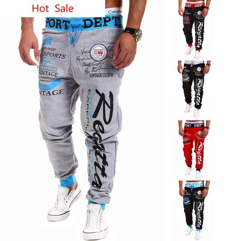 Venda por atacado-Hot 2016 Estilo de moda Mens Gym Basculadores Sweatpants Sport Harem Pants Men Loose Jogging Calças