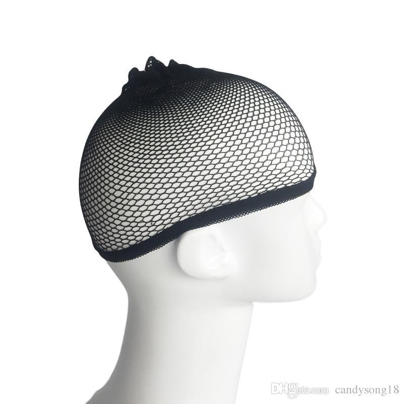 Hairnets 좋은 품질 메쉬 제직 검은 가발 머리 넷 만들기 가발, 가발 모자 Hairnets 빠른 배송 F2738