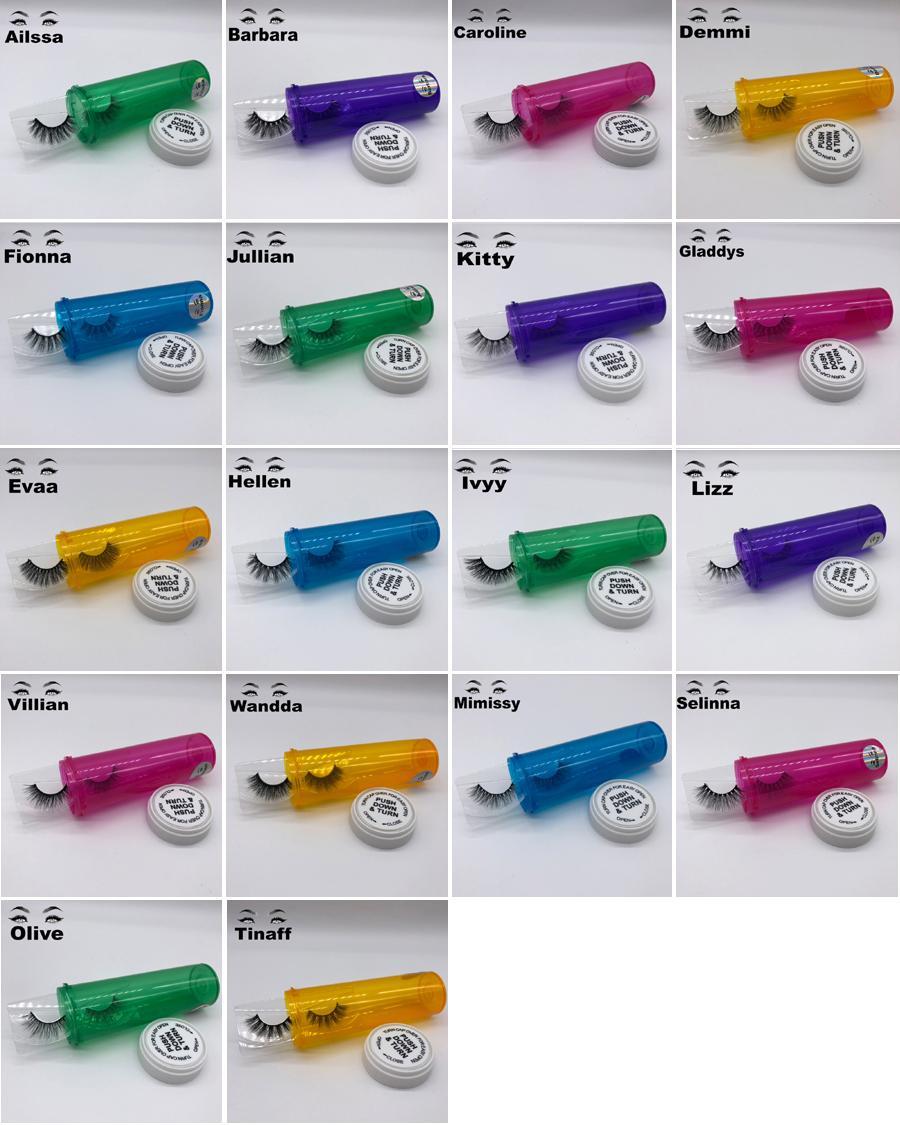 Vizon Lashes 3D Ipek Protein Vizon Yanlış Kirpik Uzun Ömürlü Lashes Doğal Vizon Kirpik Yuvarlak Kutu Ambalaj