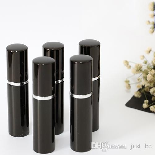 블랙 5ml 뜨거운 검색 미니 휴대용 여행 리필 가능한 향수 분무기 병 스프레이 향기 펌프 케이스 5ml 빈 병 홈 향수