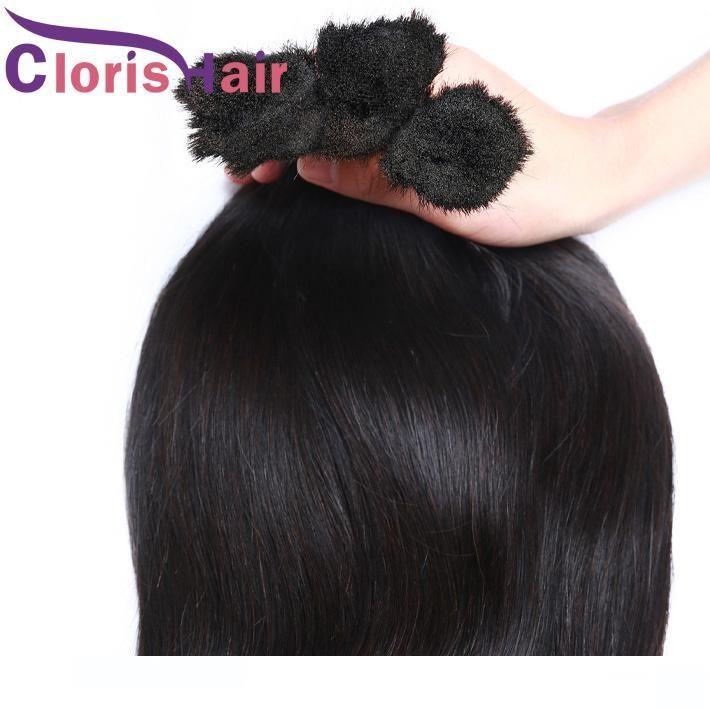 Silky Straight Bulk Hair Raw Indian Human Hair Extensions In Bulk For Braids Cheap Unprocessed Braiding Hair 3 Bundles No Weft Ombre DIY