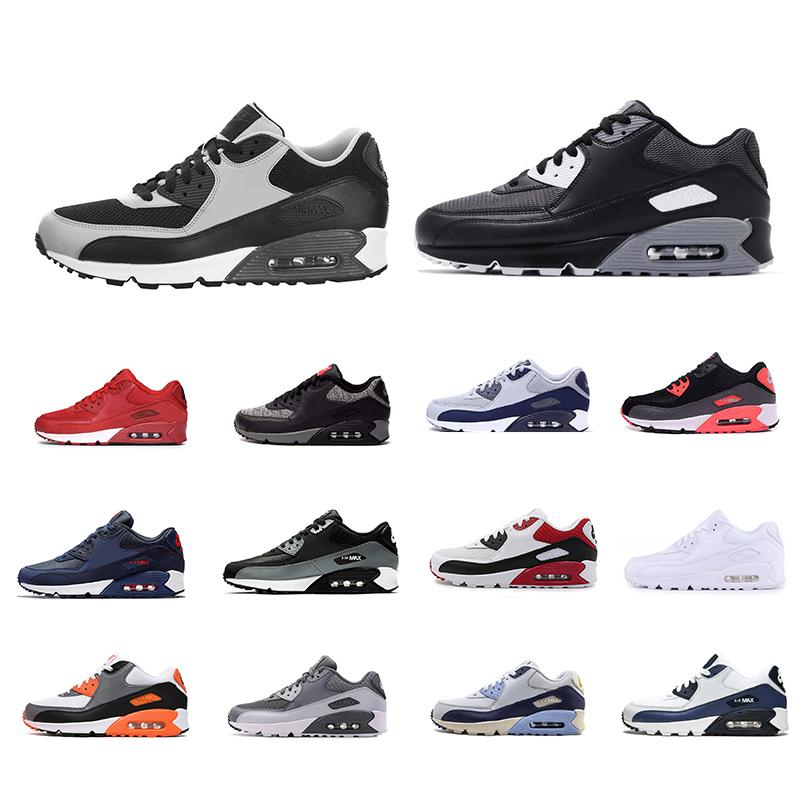 Immagini 90 pattini correnti uomini donne Triple Black White Cement Bred infrarossi Neon Arancio Blu South Beach mens formatori Sport Sneakers 36-45
