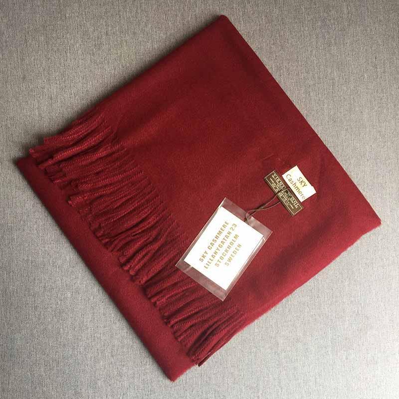 2018 Herbst und Winter Brand New Fashion Lady Pashmina Luxuxqualitäts Imitation Kaschmir Wraps Tücher Plain Quasten Schal LSF025
