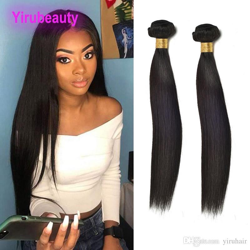 Peruvian Human Hair 2 Bundles Straight Virgin Hair Extensions Silky Straight Peruvian Virgin Hair Two Pcs One Lot 8-30inch