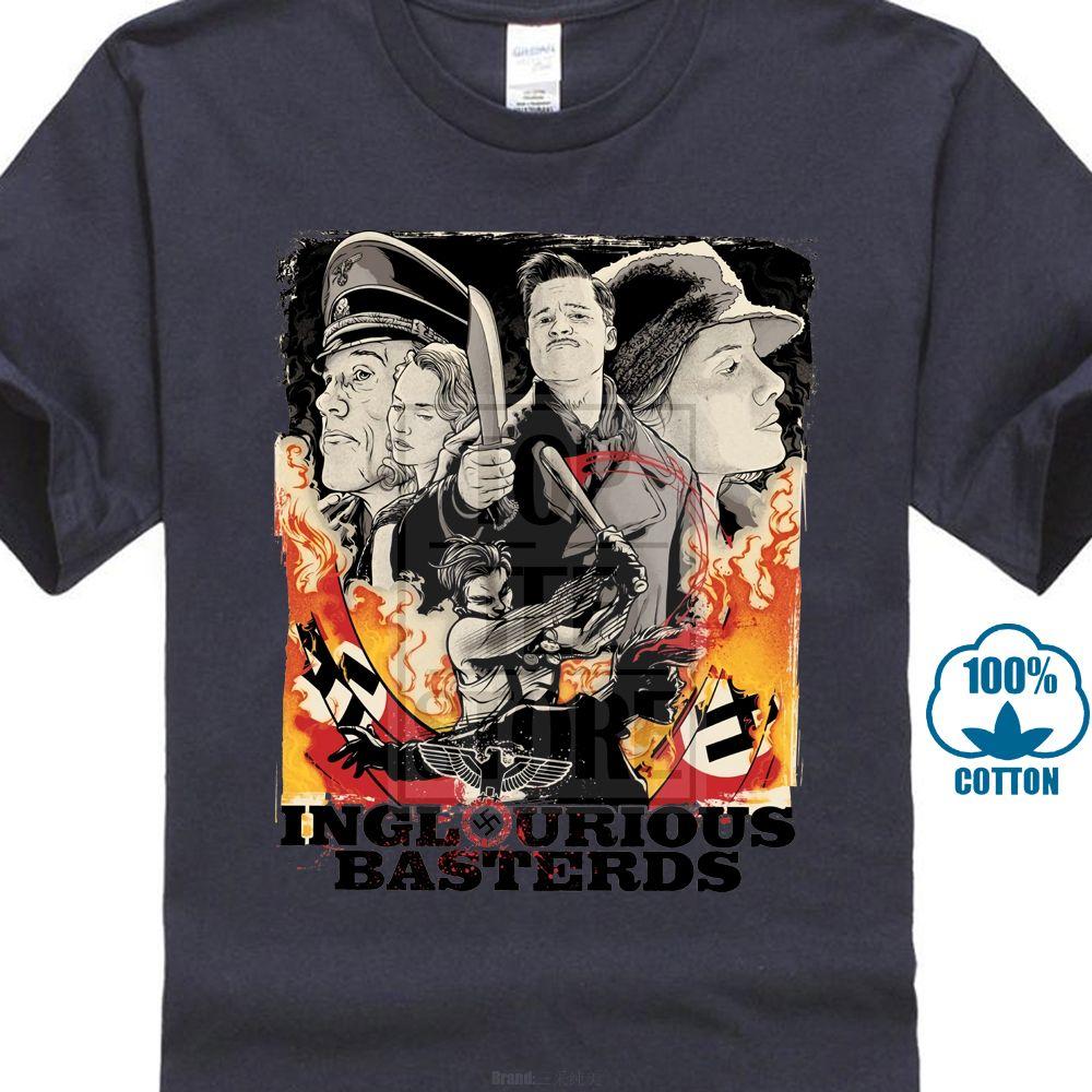Fresco Inglorious Basterds Cartaz New Fashion Homem T-shirt de Algodão O Pescoço Dos Homens de Manga Curta Mens Tshirt Masculino Tops Tees Atacado