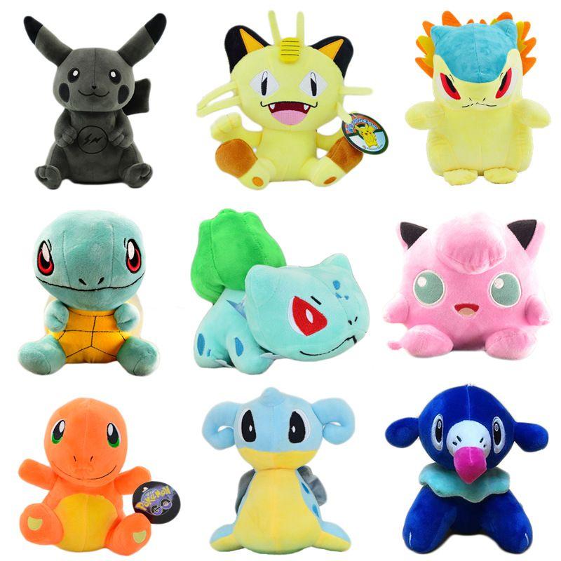 Pocket-Monster 20 / 25cm Plüsch-Puppe Spielzeug 28 Modelle alle Serie Pocket Monster Kuscheltiere Kinderspielzeug whosesale