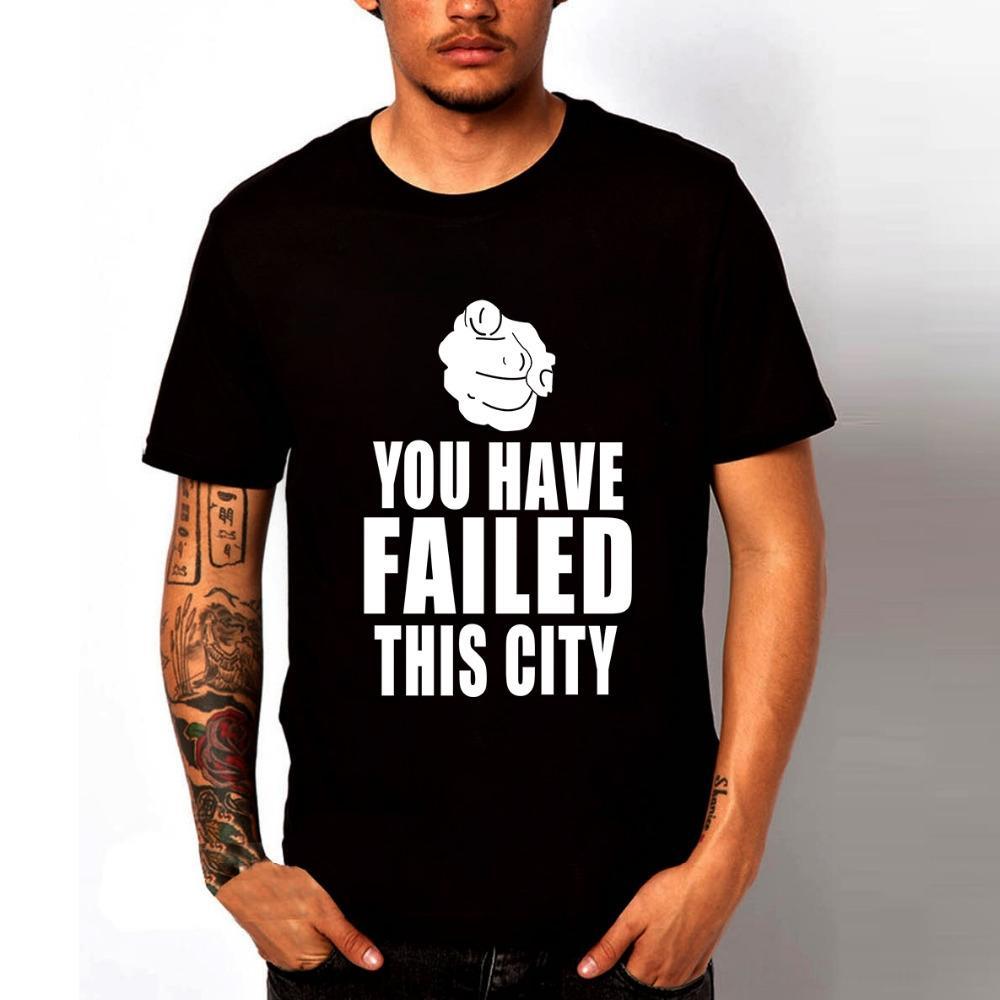 TV-Serie anzeigen Green Arrow-T-Shirts Sie haben diese Stadt-T-Shirts Männer Lustige T-Shirts Polos Herren Bekleidung Sommer-Stück Fehlgeschlagen Oberseiten-beiläufige Fas